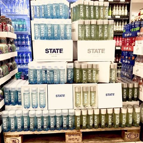 State drinks in retail distribution.