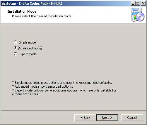 K-Lite Codec Pack 64-bit screenshot