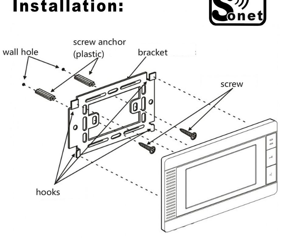SONET Villa Intercom 7″ LCD Colour Video door entry system