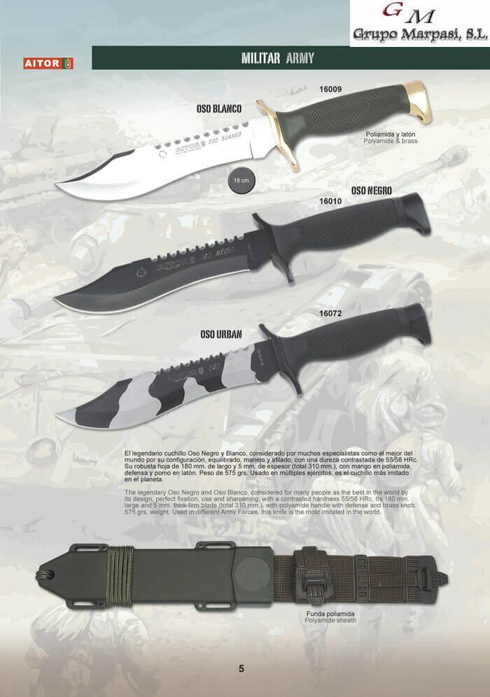 CUCHILLOS MILITARES GAMA OSO BLANCO Aitor  cuchillos