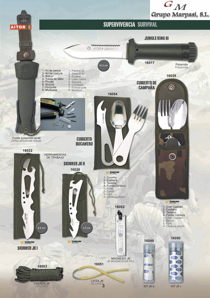 folding chairs in bags target camp - jungle king iii aitor tactical knives survival cutlery