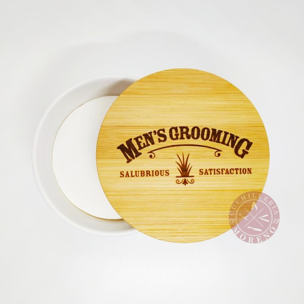 Jabón de Afeitar con Bol de Cerámica Vetiver & Sándalo The Scottish Fine Soap Company