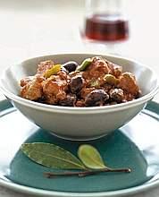 Spezzatino con olive e peperoni