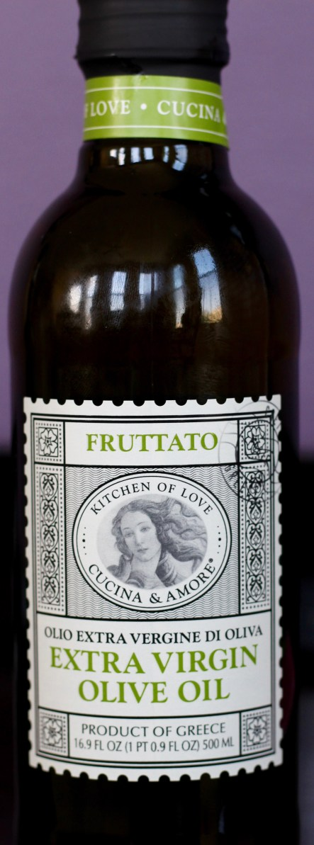 bottle of Cucina & Amore fruttato extra virgin olive oil