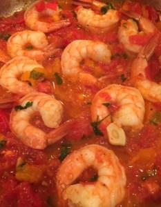 Shrimp in Sauce