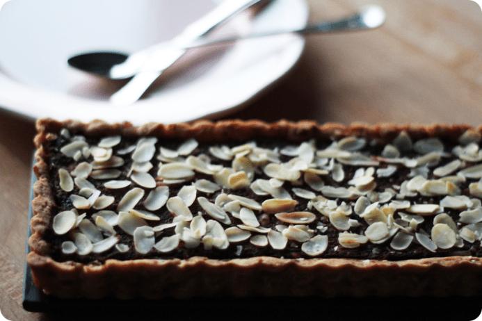 Crostata alla zucca, cacao e mandorle