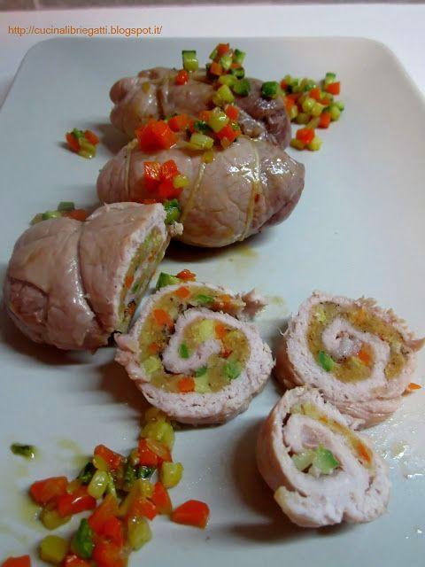 Involtini di carne di maiale con verdure