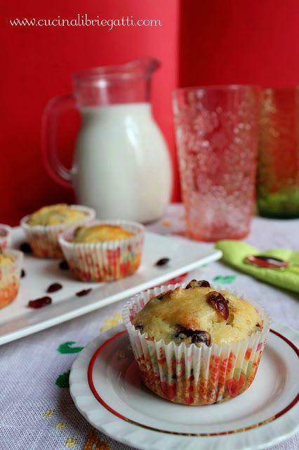 muffin ai mirtilli rossi essiccati cramberry ricetta