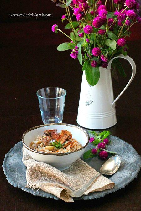 zuppa di farro funghi castagne