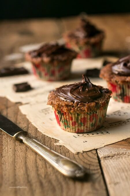 cupcake cioccolato e banana