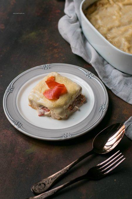 lasagne crema salmone