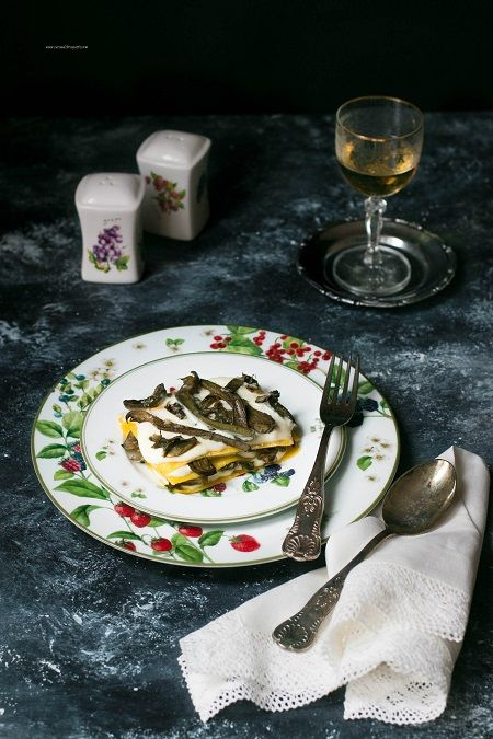 Lasagne ai carciofi con provola