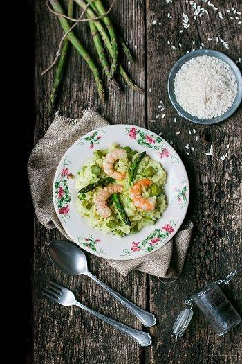 asparagi e gamberetti