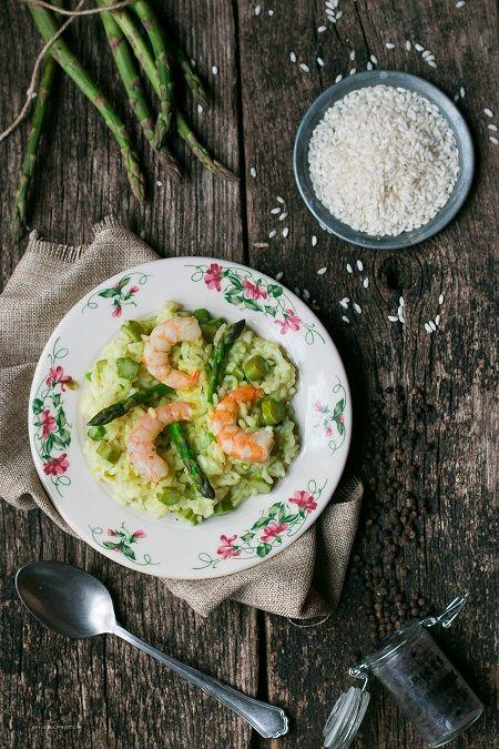 risotto gamberetti e asparagi