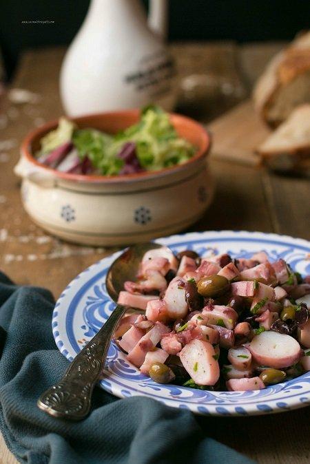 Polpo all'insalata con olive