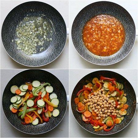 Cous cous con polpette di pesce e verdure