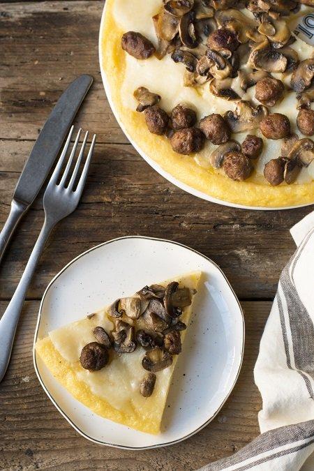 ricetta pizza di polenta