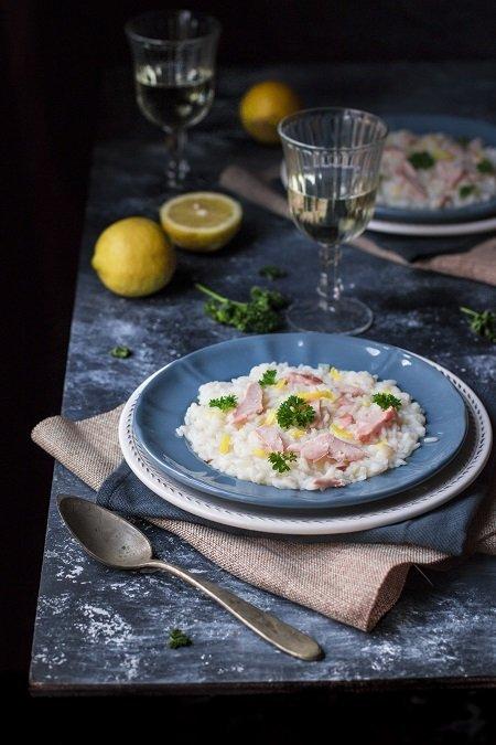 risotto al salmone fresco