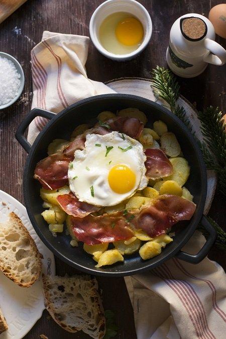 uova speck e patate