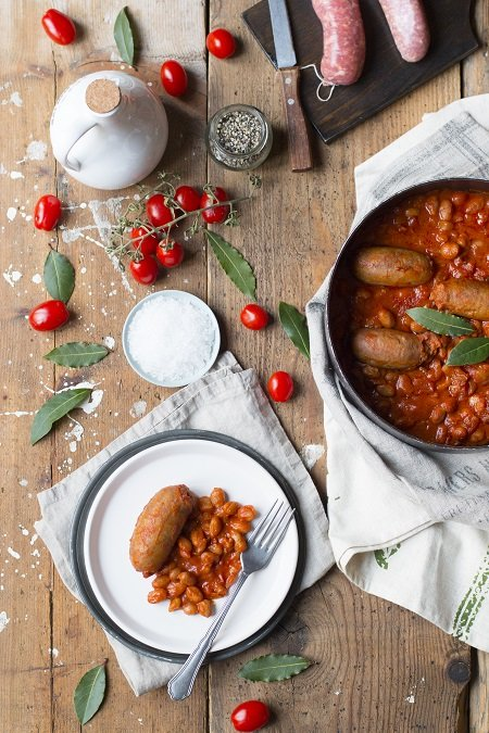 ricetta salsiccia e fagioli