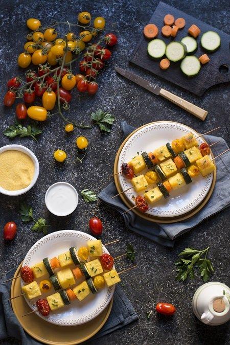 spiedini di polenta al forno