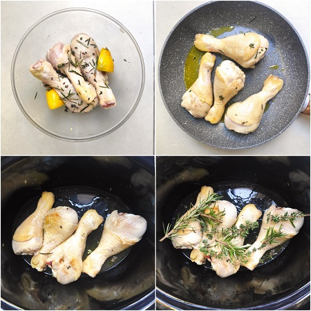 come si fa il pollo alle erbe nella slow cooker