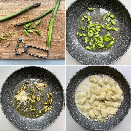 come si fanno gli gnocchi con asparagi
