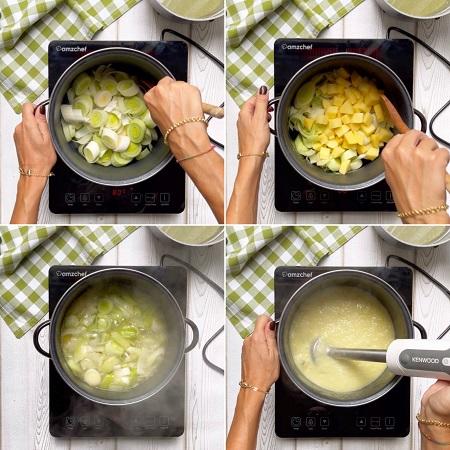 come si fa la crema di porri e patate