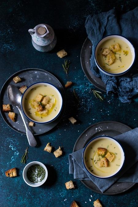 crema porri e patate