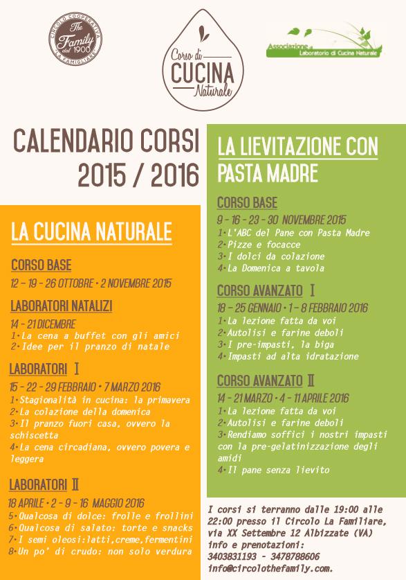 Calendario corsi di Cucina Naturale  Associazione di