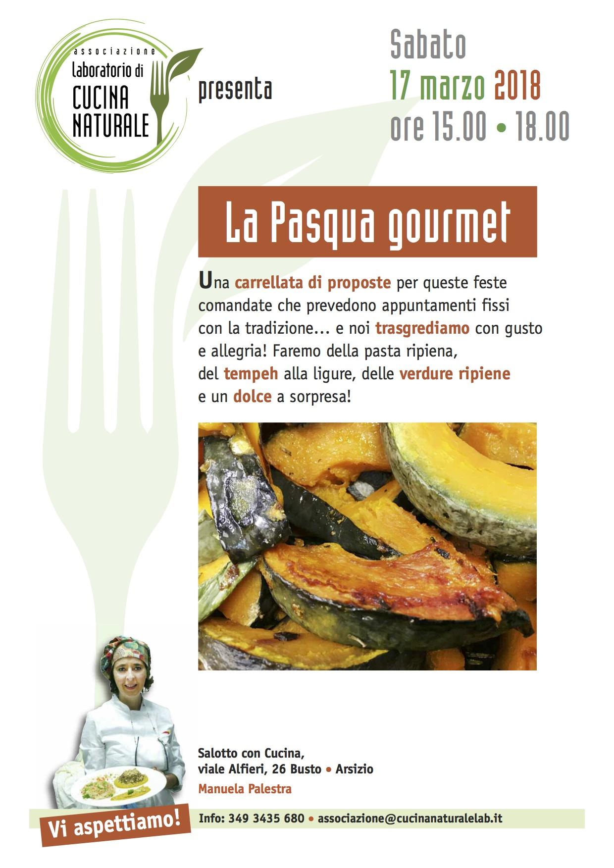 Corso di Cucina Naturale la Pasqua Gourmet  Associazione