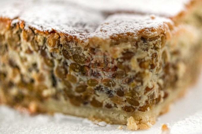 crostata di lenticchie dolce di Norcia con ricotta