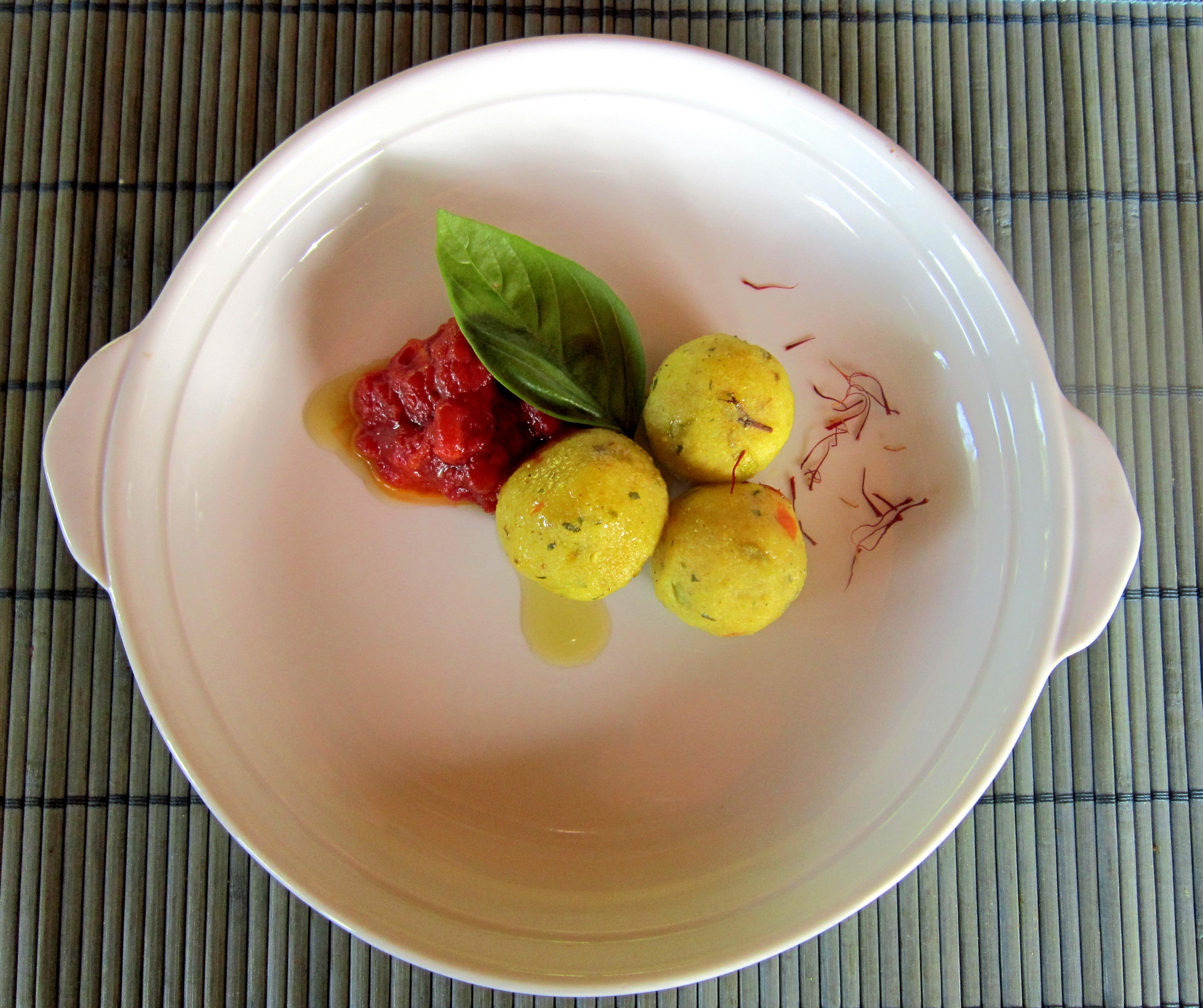 Crocchette di patate senza glutine ai pistilli di zafferano