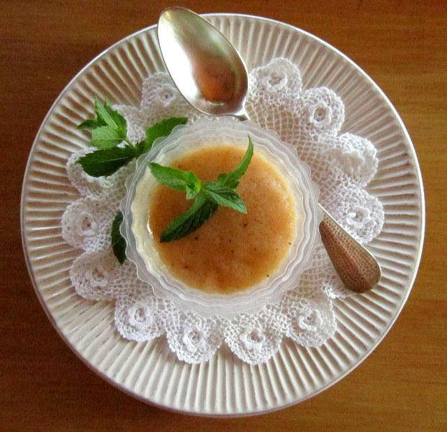Gelatina di melone, ginger e menta