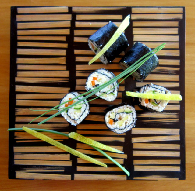 Sushi vegan, in stile raw food
