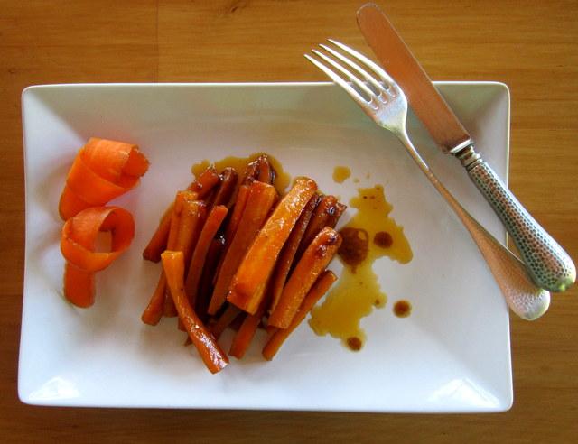 Carote aromatizzate al Marsala, un piatto che piace anche ai bambini.