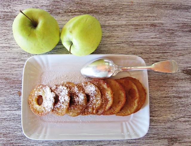 Frittelle di mele al Marsala, vegan e senza glutine