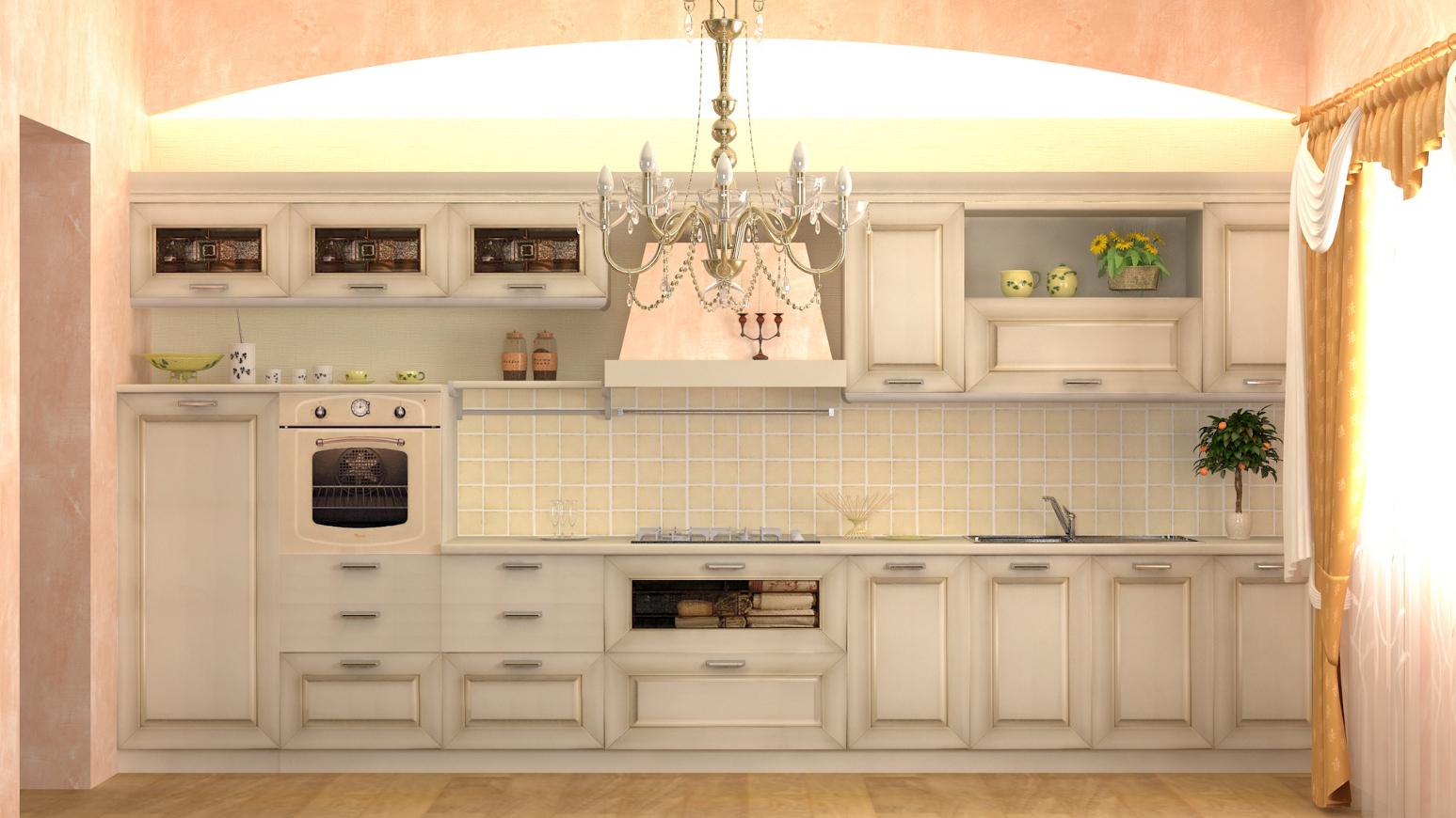 rendering  Cucine artigianali toscane