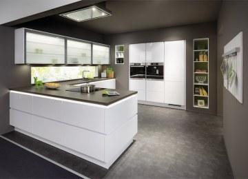Cucina Bianca Opaca Moderna | Arredo 3 Glass Ganci Arredamenti ...