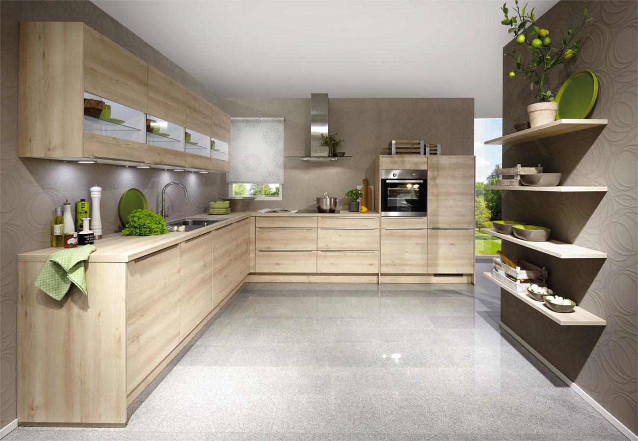 Cucine ad angolo moderne piano di lavoro e capienza  Clara Cucine