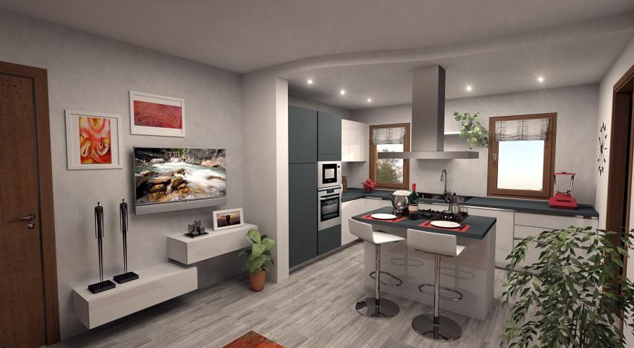Una delle migliori idee per ingrandire otticamente un soggiorno è combinarlo con una cucina aperta. Progettazione Personalizzata Della Tua Cucina Su Misura Clara Cucine