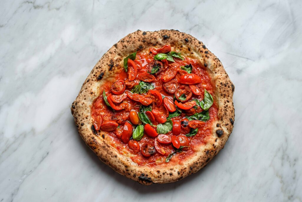 salvatore salvo pizza with six tomatoes