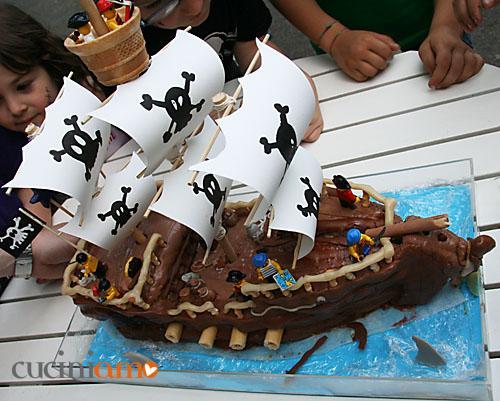 Torta pirati per festa di compleanno del Miciolas