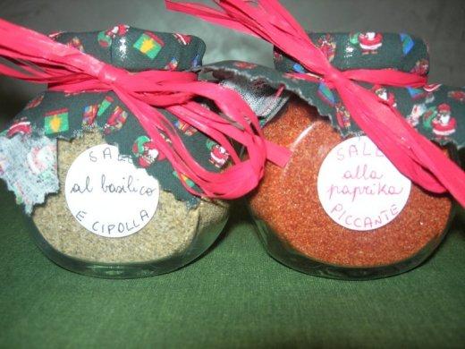 Sale alle erbe - basilico e cipolla e alla paprika piccante