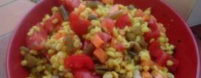 Orzo al curcuma con verdure