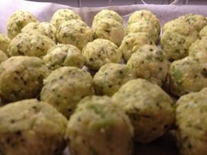 Polpettine miglio, broccolo e ricotta
