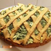 Torta salata al vino bianco, con spinaci e ricotta (foto ricetta)