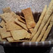 Crackers e grissini con lievito madre