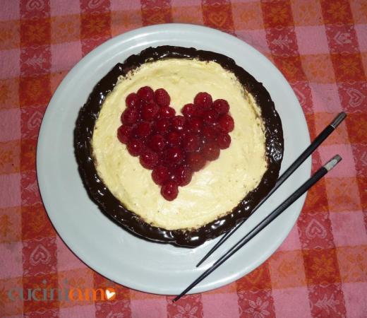 Heart sushi cake