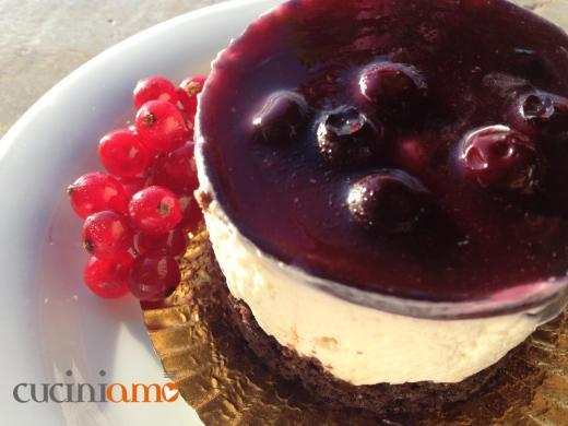 Mini cheesecake ai mirtilli